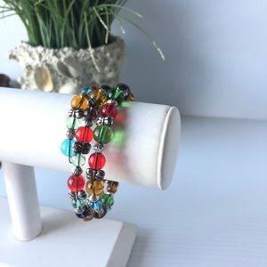 Jewelry - Memory Jelly Bracelet Rainbow of colors